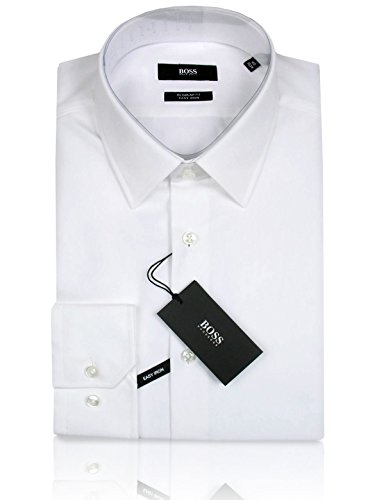 HUGO BOSS Business-Hemd | Enzo ( Regular Fit ) weiß/white (40 | M) (Weiße Jeans, Hugo Boss)