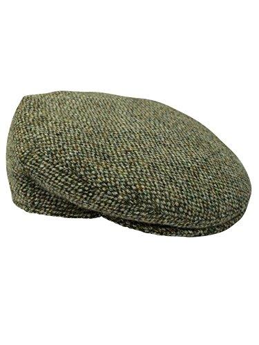 Harris Tweed Herren Schirmmütze Gr. 59 cm, Green Fleck