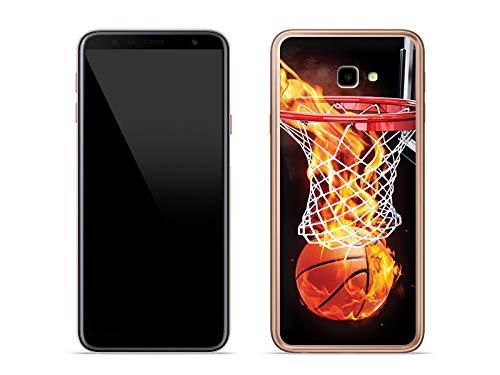 etuo Handyhülle für Samsung Galaxy J4 Plus - Hülle Foto Case - Zeit für Basketball - Handyhülle Schutzhülle Etui Case Cover Tasche für Handy (Foto-basketball)