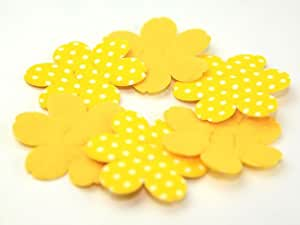 Rembourrage en feutre pour Crafts Formes 52 mm à chaque fleurs pois Jaune