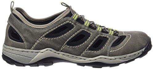 Rieker - 08065 Sneakers-men, Scarpe da ginnastica Uomo Grigio (Grau (cement/cenere/schwarz / 40))