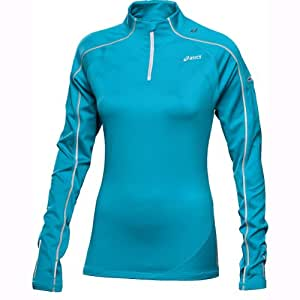 ASICS Damen Langärmliges Shirt Winter Top, aquarium, L, 422212