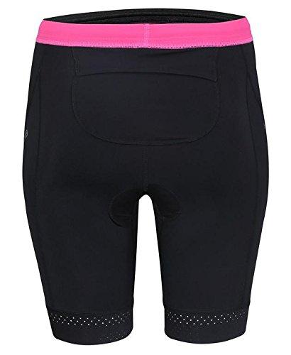 HUUB Damen Tana lang natürlich Anzug schwarz / rosa