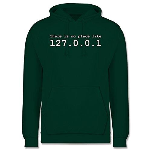 Programmierer - There is no place like 127.0.0.1 - Herren Hoodie Dunkelgrün