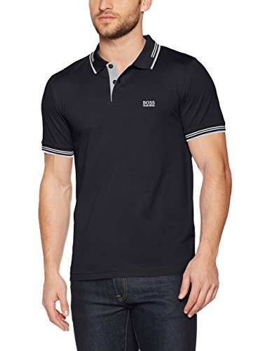 BOSS Athleisure Herren Poloshirt Paul, Schwarz (Black 001), X-Large (Pique Polo Kontrast)