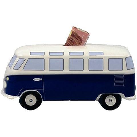 VW collection by BRISA Hucha con diseño de furgoneta Volkswagen Samba/Diseño: - Classic Blue