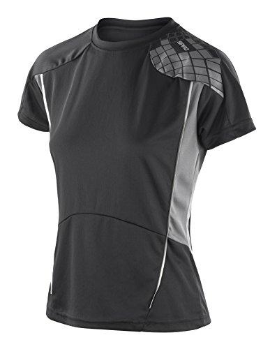 Frauen-Spiro Training Shirt Schwarzgrau