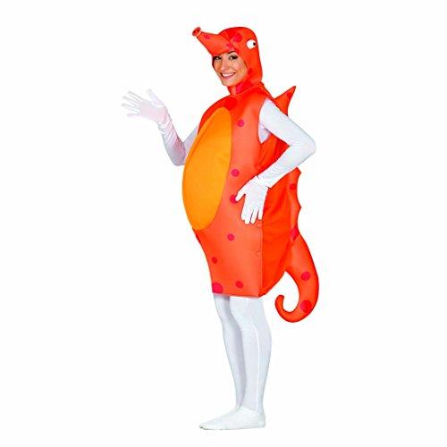 NET TOYS Costume Carnaval Hippocampe Déguisement Monde sous-Marin L Unisexe Tenue de Carnaval Cheval de mer Habit soirée à thème Poisson vêtements défilé Animal Marin Mascarade Originale