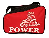 #2: Trendway Unisex Inline Skate/Ice Skates Kit Sports Bag Helmet Storage Bag Travel Duffle Bag for Kids / Children / Men / Women / Girls- Red Color