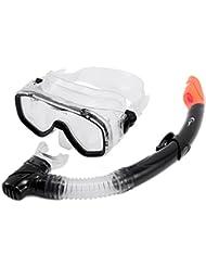 Adulto para snorkel máscara y Snorkel conjunto snorkel buceo vacaciones negro azul rosa amarillo, Black,one window vision