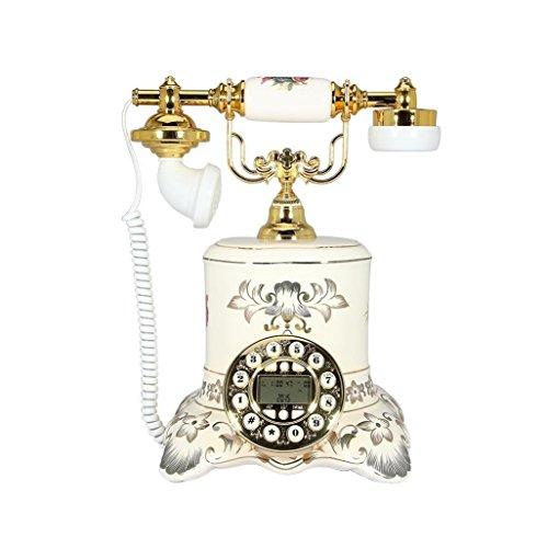 MMM- Retro / Antique / Telefon / Key Dialing / mit Freisprecheinrichtung und Anrufer-ID-Funktion, verdrahtete Telefon aus Keramik und Messing (Größe: 25 * 23 * 30cm) Festnetz-Telefon (Schnurgebundene Freisprecheinrichtung, Anrufer-id)