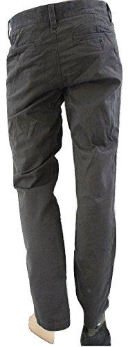 Cotone Casual Chino Pantaloni Grey 46