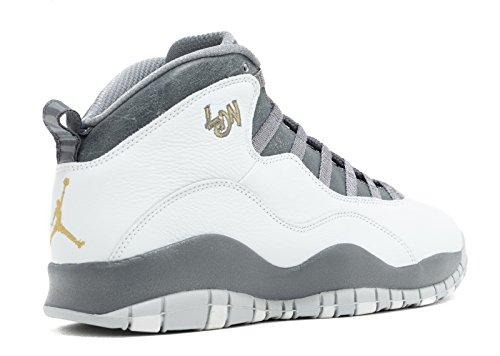 Retro pr pltnm 10 cl gry Basketballschuhe Herren drk Jordan Nike mtllc Air Grau gld n0qw8txBR