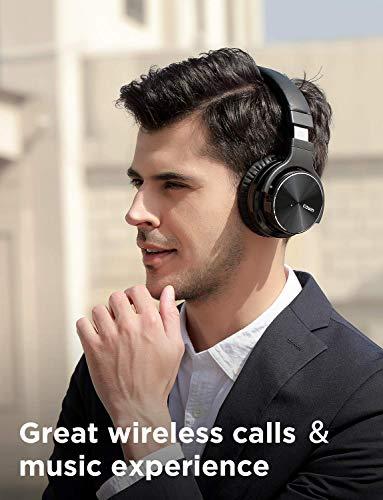 cowin E7 PRO [2018 aktualisiert] Active Noise Cancelling Bluetooth Kopfhörer mit Mikrofon Hi-Fi Deep Bass Wireless Kopfhörer über Ohr 30H Spielzeit für Reisen Arbeit TV Computer Telefon(Schwarz) - 6