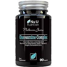 Glucosamina y Condroitina, MSM, Vitamina C, Jengibre, Cúrcuma Curcumina y Zinc |