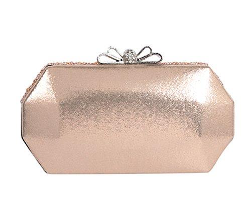 172e6154bfbf6 SK Studio Damen Strass Clutch Abendtasche Mit Kette Klein Glänzend Perlen Handtasche  Beutel Vintage Glitzer Umhängetasche