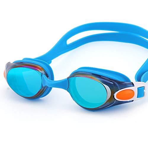 MHP HD-Schutzbrillen Anti-Beschlag großer Rahmen, der flaches Licht mit wasserdichter Schwimmbrille für Männer und Frauen, blau 2 beschichtet