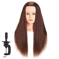 "Hairginkgo 24-26"" 100% Human Hair Training Practice Head Styling Dye Cutting Mannequin Manikin Head"