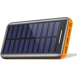 KEDRON Batterie Externes 24000mAh Chargeur Portable avec Deux Entrées et 3 Ports USB de Power Bank Batterie pour Smartphone, et Autres
