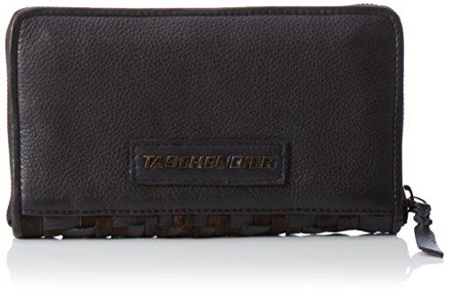 Taschendieb Damen TD0766 Geldbörsen, Schwarz (Anthra), 21x12x2 cm (Schuhe Schwarz Wien)