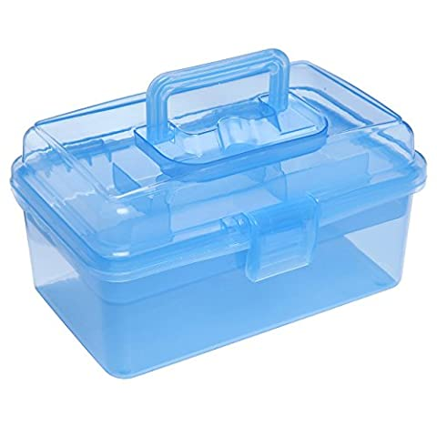 Clear Blue Multipurpose First Aid, Arts & Craft Supply Case