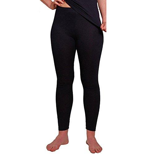 HERMKO 1720 2er Pack Damen Legging aus 100% Baumwolle, Leggin, Farbe:schwarz, Größe:40/42 (M)