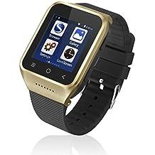 zgpax S8Android 4.4Dual Core Smart reloj teléfono móvil, pantalla táctil, 3G WCDMA multipunto 1.54inch LG, Bluetooth 4.0, Bulit-in GPS, cámara de 2m (oro)