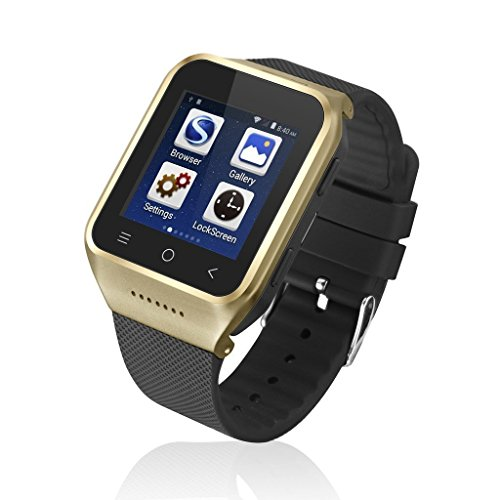 SimBo Technology Limited ZGPAX S8Smartwatch Android 4.4Dual Core Smart Armbanduhr Telefon, 3,9cm LG Multi Touch-, 3G WCDMA, Bluetooth 4.0, integrierter, GPS, 2M Kamera (Gold)