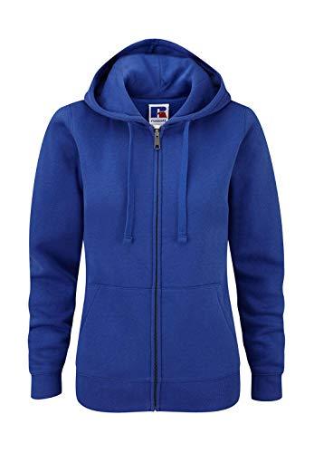 Z266F Damen Authentic Hooded Sweatjacke Sweatshirtjacke Jacke mit Kapuze, Größe:S;Farbe:Bright Royal