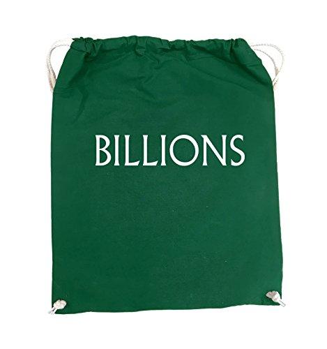 Comedy Bags - BILLIONS - LOGO - Turnbeutel - 37x46cm - Farbe: Schwarz / Pink Grün / Weiss