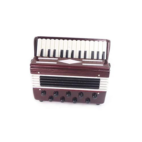 ToDIDAF Puppenhaus Zubehör Niedliches Miniatur Akkordeon 1:12 Mini Dollhouse Miniatur Musikinstrument, Lernspielzeug für Kinder, 65 x 25 x 60 mm (Baby Essen Glas Basteln Für Halloween)