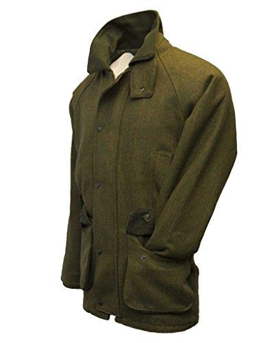 Herren Country-Jacke aus Tweed - für die Jagd geeignet - Dunkles Salbeigrün -...