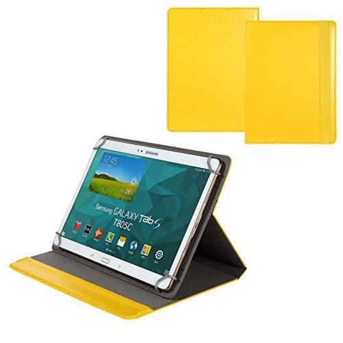 BRALEXX Universal 10 Zoll Tablet Tasche passend für Odys Wintab 9 plus 3G, Gelb