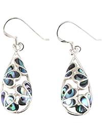 Island Piercings 925er Silver and Sea Shell Earrings SER043 bJiOiiL