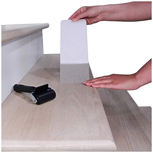 Treppe Set (Queta Antirutschstreifen Treppe Set Rutschfest Stufenmatten Transparent Rutsch Streifen Treppenstufen Matten Rutschschutz 15 Rollen Transparente Antirutschstreifen mit Installationsrolle (15 x 80cm))