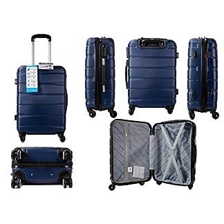 Aero Travel Maleta rígida de 20 Pulgadas con 4 Ruedas telescópicas para Equipaje