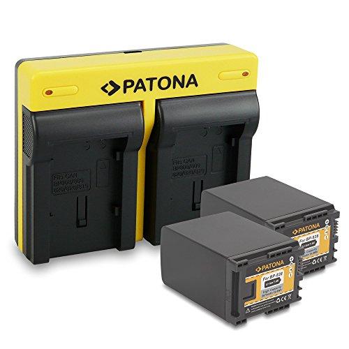 PATONA Dual Chargeur + 2X Batterie comme BP-828 Compatible avec Canon XA20 XA25 HF-G30 LEGRIA HF