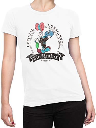 4ad9f770 Disney - T-Shirt - Femme - Jiminy Cricket - Blanc - XX-Large