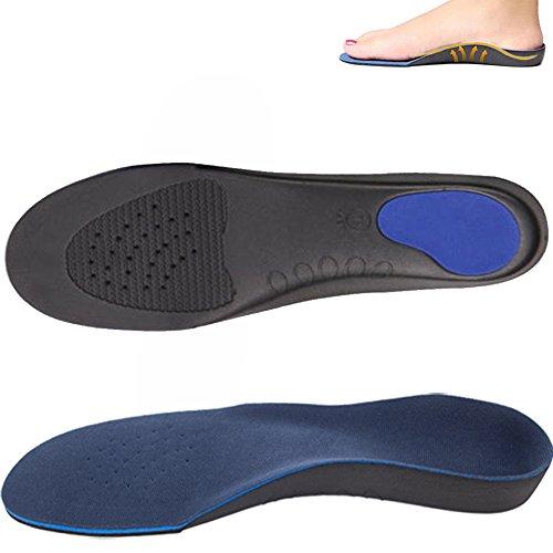 DODOING Unisex Orthopädische Einlegesohle für Flache Fuß, Männer Frauen Orthesen Einlegesohlen Einlage Pad Schuhe Sohle für Stoßdämpfung, Fußbogenstütze, Entlasten Fußschmerzen und Plantar Fasciitis (Golf Schuhe Für Flache Füße)