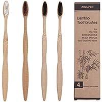Cepillos de dientes fabricados en bambú - Libre de BPA y 100% libre de  plástico c4f7deac5a1d