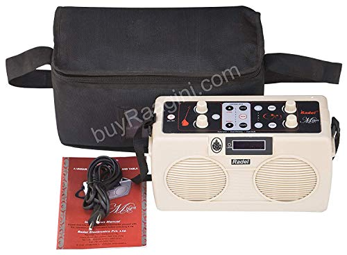 NASIR ALI Electronic Tanpura/Tabla - RADEL Digital Tabla Plus Tanpura, Digital Tabla and Tanpura Sound Machine, Tabla/Tanpura/Tambura Sampler, Instruction Manual, Bag, Power Cord (PDI-DIF)