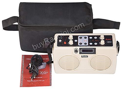 NASIR ALI Electronic Tanpura/Tabla - RADEL Digital Tabla Plus Tanpura, Digital Tabla and Tanpura Sound Machine, Tabla/Tanpura/Tambura Sampler, Instruction Manual, Bag, Power Cord (PDI-DIF)