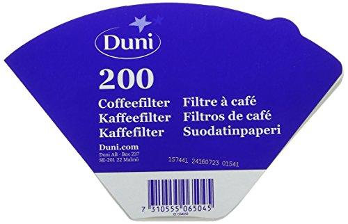 Duni 506504 Filterbeutel, 1 L, 100 ice white/white (1000 Stück)