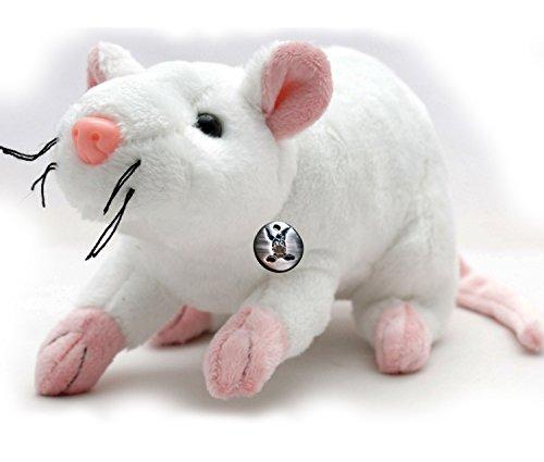 Ratte MINNIE Maus weiß 29 cm Plüschratte Plüschmaus von (Nase Maus Minnie)