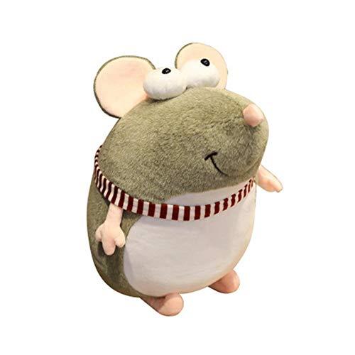 Plüschtier Maus Klein 20/25/35CM,Nettes Blindes Großes Gemustertes Mäusepuppe-Karikatur-Plüschtier, Zum Des Mädchen-Geschenk-Ratten-Jahr-Maskottchens