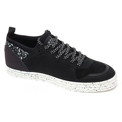 B7092 sneaker uomo HOGAN REBEL R141 scarpa nero shoe man Nero