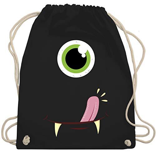 Karneval & Fasching - Monster Gesicht Kostüm - Unisize - Schwarz - WM110 - Turnbeutel & Gym Bag (Augen Gesicht Kostüm)