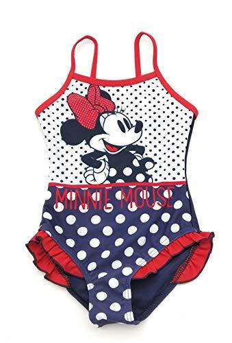 Bañador Infantil Minnie Disney para niñas con Adornos de Volantes en la Parte Inferior 8 años, Azul...