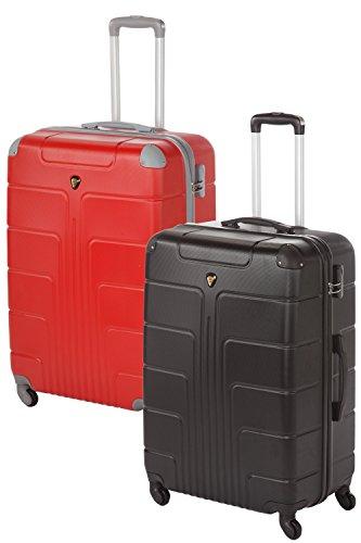 'Coque rigide Valises Couple Lot de 2 Pièces 2 x Taille XL Couleur, 75 cm, chaque 110 L de nombreuses couleurs noir/rouge 2x Gr. XL
