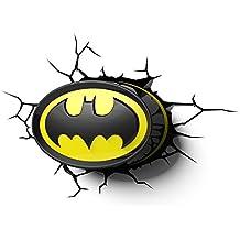 Batman Dc Comics Logo 3d deco pared luz